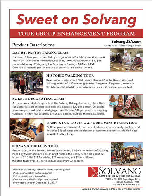 Solvang Tour Group Enhancement Programs