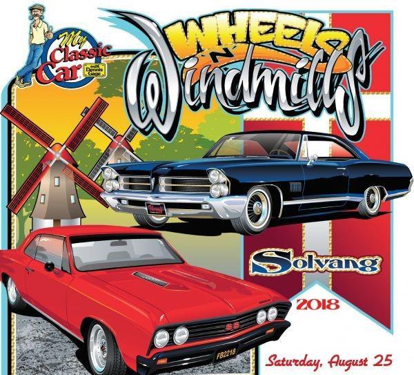 Vroom! Wheels 'N Windmills Car Show is Saturday, 8/25/18