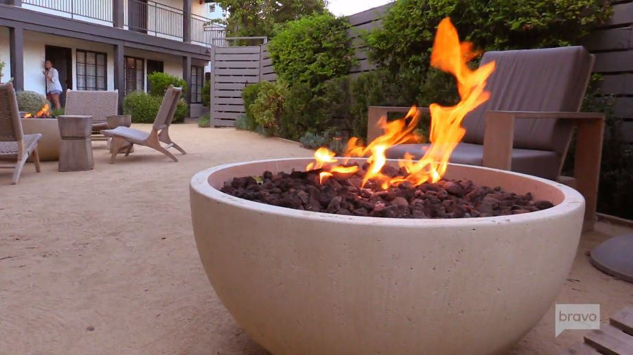 The Landsby Village Suites Patio With Fire Pit