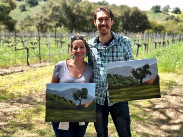 Painting-in-the-vineyard-at-koehler-winery-vineyard-activities-in-santa-ynez-solvang-wine-tasting-2-768x576